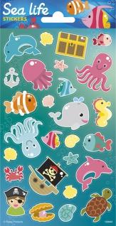 1 Bogen Unterwasser Tiere Papier Sticker