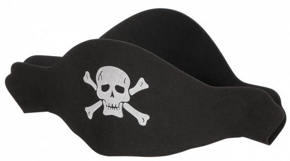 Piraten Hut aus Moosgummi