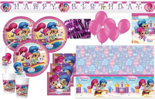 XXL 57 Teile Shimmer und Shine Party Deko Set für 6-8 Kinder