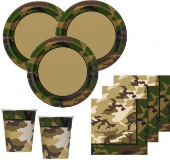 32 Teile Camouflage Party Deko Set für 8 Personen - Vorschau 1
