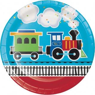 48 Teile Erster Geburtstag Eisenbahn Party Deko Set 16 Personen - Vorschau 2