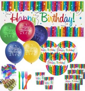 XL Party Deko Set Regenbogen Geburtstag für 16 Personen - Vorschau 1