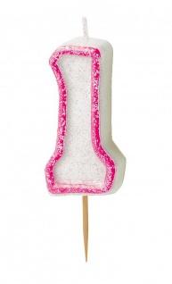 Erster Geburtstag Muffin Dekorations Backset Rosa für bis zu 75 Cupcakes - Vorschau 5