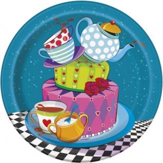 8 kleine Teller Tee Party verrückter Hutmacher