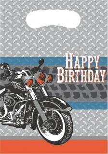 8 Party Tütchen Biker Party - Happy Birthday - Vorschau 1