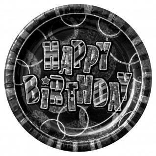 48 Teile zum 30. Geburtstag Party Set in Schwarz für 16 Personen - Vorschau 3