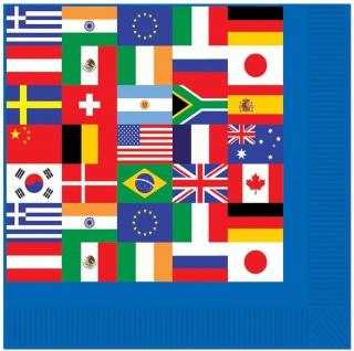 16 Servietten Länder Flaggen International Party Deko