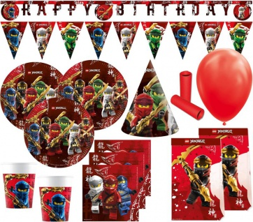 XL 63 Teile Ninjago Party Deko Set 6 Kinder