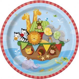 8 kleine Teller Noah's Arche Babyshower