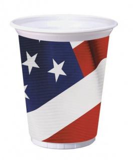 8 große Becher USA Party 473 ml