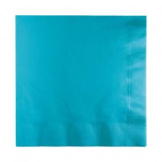 50 kleine Servietten Bermuda Blau 2-lagig