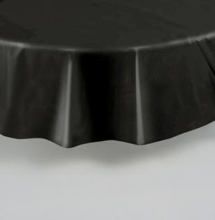 Runde Plastik Tischdecke schwarz - Vorschau 2