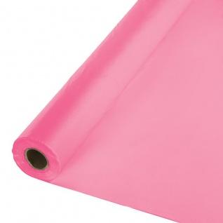 30 Meter Rolle Plastik Tischdecke Bonbon Rosa