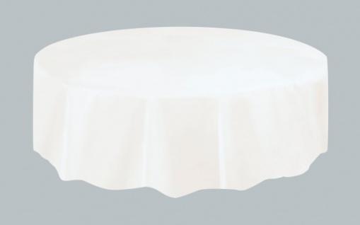 Plastik Tischdecke Rund weiß