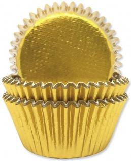 45 Muffinförmchen in Gold Metallic