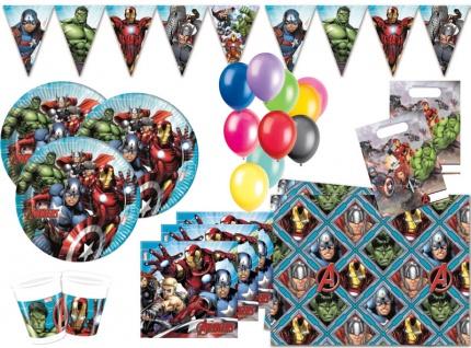 XL 60 Teile MIGHTY Avengers Party Deko Set für 8 Kinder
