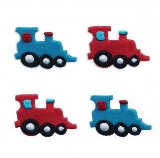 4 Zuckerfiguren Eisenbahn oder Lokomotive