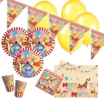 48 Teile Disney Winnie Puuh Party Deko Set für 8 Kinder - Vorschau 1