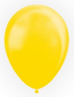 10 Luftballons in Gelb mit Perlmutt Glanz 30cm