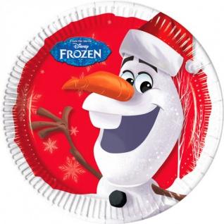 8 Teller Frozen Eiskönigin Olaf Weihnachten