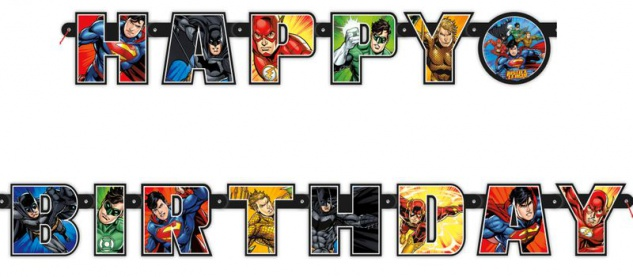 Justice League Geburtstags Girlande