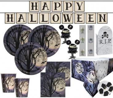 XXL Halloween Grusel Gruft Party Deko Set für 8 Personen