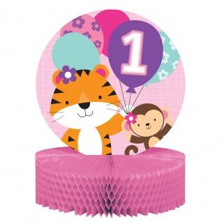 XXL 43 Teile Erster Geburtstag im Zoo Rosa Party Deko Set 8 Personen - Tiger - Vorschau 3