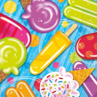 16 Servietten Eis am Stiel