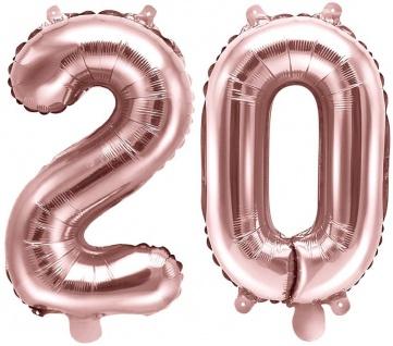 Folienballons Zahl 20 Rosegold Metallic 35 cm