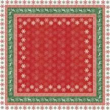 Kleine Weihnachts Tischdecke Snowflakes In A Row 80x80cm - Vorschau