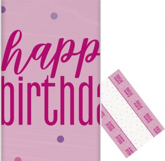 Pink Dots Happy Birthday Tischdecke