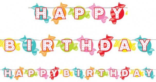 Statement Geburtstags Girlande Candy Shop