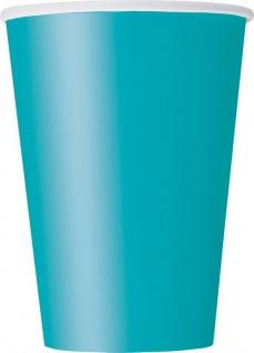 10 große Becher Karibik Blau
