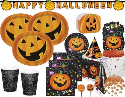 XXL Halloween Deko Set Kürbis Kumpels für 8 Personen