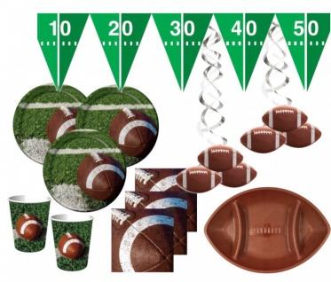 XXL 54 Teile American Football Superbowl Party Deko Set für 16 Personen
