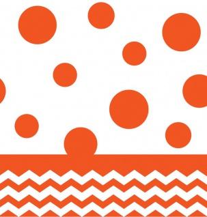 Plastik Tischdecke Orange