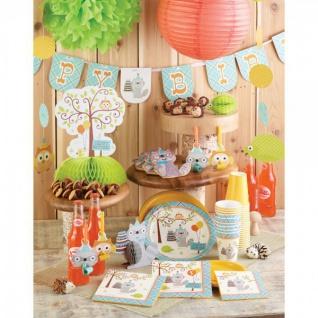 16 Servietten zum 1. Geburtstag kleiner Waschbär Blau - Vorschau 3