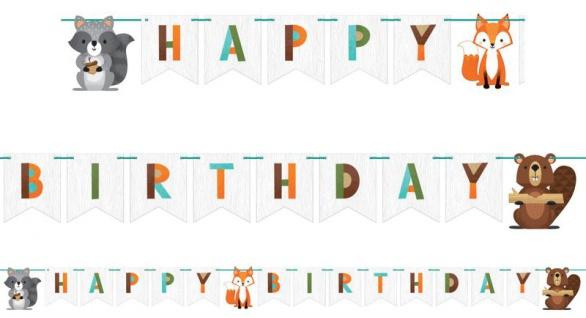 Geburtstags Girlande kleine Waldtiere