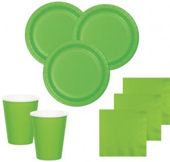 8 kleine Pappteller Limonen Grün - Vorschau 2