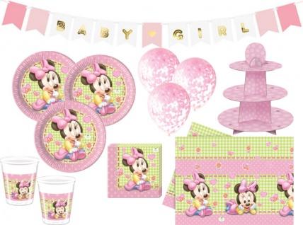 XL 44 Teile Disney Baby Minnie Maus Baby Shower Party Deko Set 8 Personen Mädchen