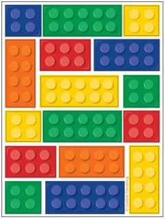 4 Sticker Bogen Bausteine