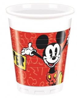 8 Becher Micky Maus Retro