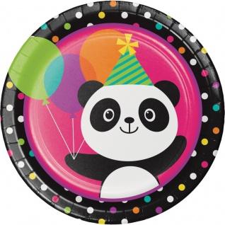 48 Teile Pink Panda Bär Basis Party Deko Set für 16 Personen - Vorschau 2