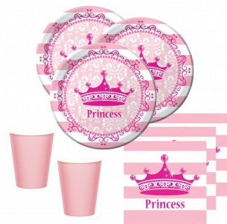 48 Teile Royal Princess Set für 16 Prinzessinnen