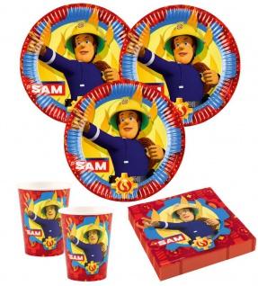 36 Teile Feuerwehrmann Sam Party Deko Set für 8 Kinder