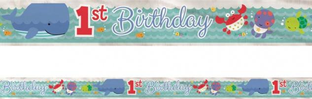 Folien Banner zum 1. Geburtstag Meeresfreunde