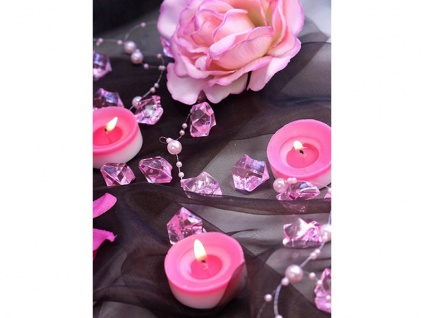50 Deko Plastik Eis Kristalle rosa - 21 x 25 mm Durchmesser - Vorschau 3