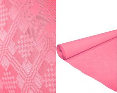Papier Tischdecke mit Damast Prägung in Pink 1, 2 x 8 Meter
