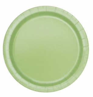 8 Papp Teller Apfel Grün