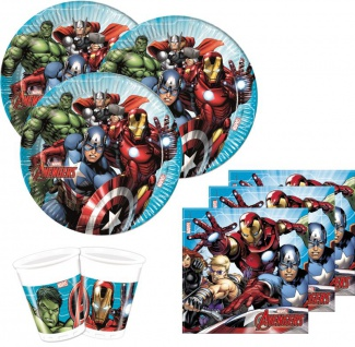52 Teile MIGHTY Avengers Party Deko Set für 16 Kinder